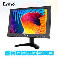 "EYOYO 10"" IPS HD 1280x800 HDMI Monitor Video Audio For PC CCTV Landscape DVR DVD"