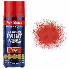 1 x 400ml All Purpose Red Gloss Aerosol Spray Paint Household Car Plastic