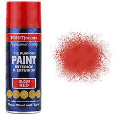 1 X 400ml Multi Usage Rouge Brillant Peinture Aérosol Maison Voiture PLASTIQUE