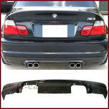 For 2001-06 E46 Bmw M3 Carbon Fiber Cs Look Rear Replace Bumper Diffuser Spoiler