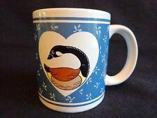 CANADA GOOSE Mug Coffee Cup Canadian Bird Blue Floral GHC