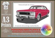 69-70 XW FAIRMONT SEDAN A3 ORIGINAL PERSONALISED PRINT POSTER CLASSIC RETRO CAR