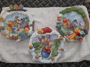 3 Winnie the pooh bradford exchange decorative plates.