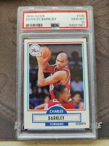 1990 Fleer #139 Charles Barkley Philadelphia 76ers HOF PSA 10 GEM MINT