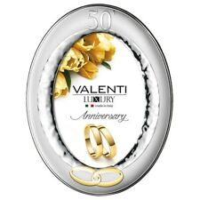 Picture Frame Oval 50th Anniversary by Valenti Argenti 7'' x 9''