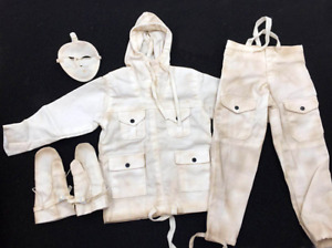 1/6 Scale Soldiers Clothes WWII U.S.Army 28th Infantry Division Gunner Snow Suit