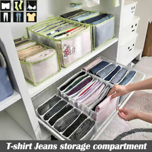 Jeans Compartment Storage Box Closet Clothes Drawer Mesh Separation Box Home