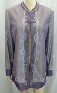 Windsmoor ✮ Size UK 10 ✮ lilac purple oriental style occasion wedding jacket