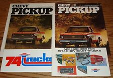 1974 Chevrolet Pickup Truck  Sales Color Accessories Brochure Lot of 4 74 Chevy