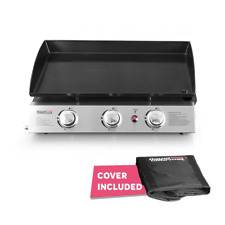 Table Top Hibachi Griddle Portable Flat Top Grill 3 Burner Cooking Bbq Food Home