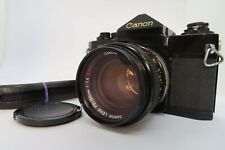 【NEAR MINT】 Canon F-1 35mm SLR Film Camera Late Model w/ FD 50mm f/1.4 SSC JAPAN