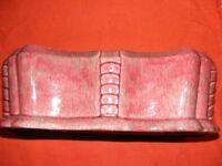 VINTAGE PATES. AUSTRALIAN POTTERY Large Pink Tones TROUGH VASE. Art Deco