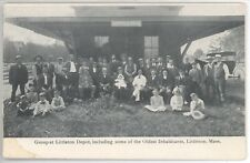 LITTLETON DEPOT Station PC Postcard MASSACHUSETTS Oldest Inhabitants MASS MA