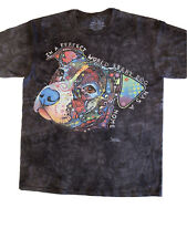 The Mountain Russo Pitbull Dog Face T-Shirt New Size Large