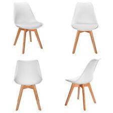4x Design Esszimmer Stühle Stuhl Weiß Wohnzimmerstühle Bürostühle Küchenstuhl