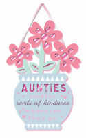Aunties Kindness Auntie Hanging Plaque With Ribbon More Than Words Gift
