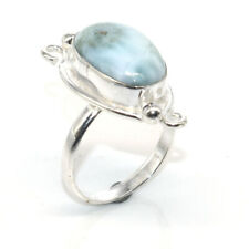 Caribbean Larimar Oval Gemstone Christmas Wishes Jewelry Ring 9'' lc032
