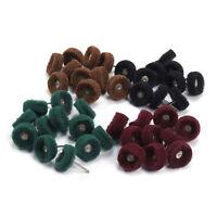100Pcs 25mm Abrasive Wheel Buffing Polishing Wheel Mix Set For Rotary Tools