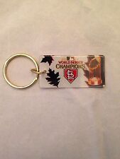 MLB St. Louis Cardinals 2011 World Series Champions Plastic Key Ring . NEW Gift