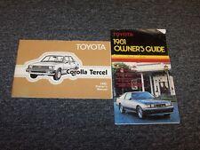 1981 Toyota Corolla & Tercel Sedan Owner Owner's Operator User Guide Manual Set