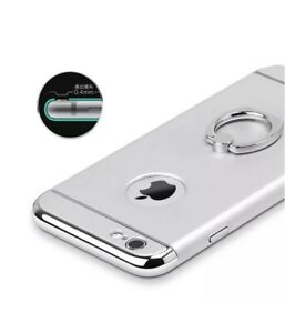 SILVER Focus ShockProof Case Apple iPhone 7 Back Cover Ring Stand New Hybrid