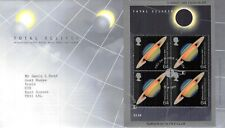 1999 Royal Mail Cover, FDC -  Total Eclipse, Miniature Sheet, Falmouth Postmark