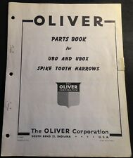 OLIVER UBO & UBOX SPIKE TOOTH HARROWS PARTS MANUAL S2-9-G29-1  (719)
