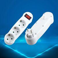 Dreifachstecker Kontakt Mehrfachstecker Steckdosenverteiler 3-fach Adapter Yullu
