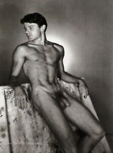 1950/97 Vintage GEORGE PLATT LYNES Male Nude Naked Duotone Photo Engraving 16x20