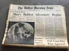 Dallas Morning News Newspaper - July 17, 1969 - Apollo 11 Trip To The Moon