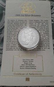 Silver BRITANNIA 1oz Coin UK Royal Mint Bullion Coin 2006