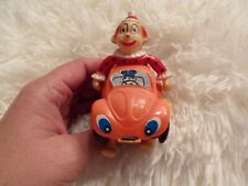Vtg Clown In A Car Wind Up Toy Works