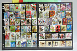   BULK United Kingdom Stamps   2 SCANS of Mixed ENGLISH Stamps   OCT68  