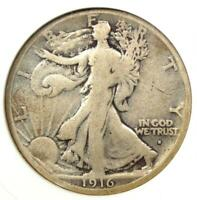 1916-S Walking Liberty Half Dollar 50C - ANACS VG Details - Rare Date Coin!