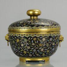 Antique Chinese 18/19C Bronze Cloisonne Lidded Kamcheng SE Asia market B...