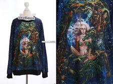 TY-Y075 Gothic Punk Women Monster Alien Fantasy Sky Sweatshirt Pullover Harajuku