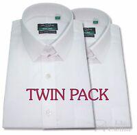 Mens Tab Collar Shirt Cotton Bond collar Cuff links Peaky Blinders Pack of 2