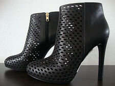 ASH BLONDIE Stiefeletten Leder Ankle Boots Damen Pumps Schuhe Black Gr.37 NEU