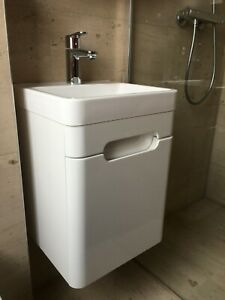 BATH EMPIRE white high gloss basin cabinet vanity unit 44x40x53cm RRP£169 NEW