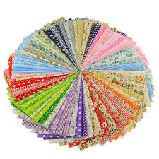 Fabric Bundle Stash Cotton Patchwork Sewing Quilting Tissue Cloth 50 Pcs Set