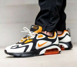 NIKE AIR MAX 200 Trainers Gym Casual - Black Magma UK Size 9 (EUR 44)