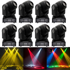 8PCS 30W RGBW Spot GOBO LED Moving Head Stage Lighting DMX DJ Disco Party Light
