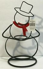 NWT Yankee Candle Metal Snowman Votive Holder Red Scarf