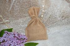 20 x Burlap Mini Favor Bags Hessian Fabric Wedding Christmas Santa Stocking