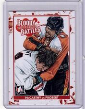 SANDY McCARTHY VS. BOB PROBERT 10/11 ITG Enforcers Bloody Battles #75 Card
