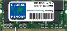 1GB DDR 266/333/400MHz 200-PIN SODIMM MEMORY RAM FOR LAPTOPS/NOTEBOOKS
