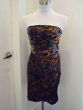 nwt JUICY COUTURE velvet burnout drape silk  DEVORE dress 8 muli-color $348