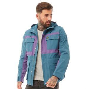 LYLE and SCOTT Vintage Mens Colour Block Jacket Petrol & Teal - Lightweight