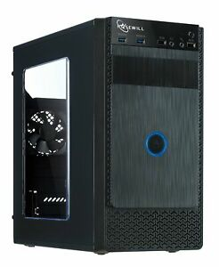 ROSEWILL Micro ATX Mini Tower Computer Case, Black Steel and plastic computer