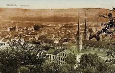 Diekirch Luxembourg panoramic birds eye view of area antique pc Z18000